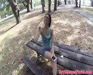 Spycam Pulled Babe Paid For Outdoor Bang - scene 3