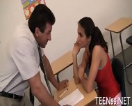 Beautiful Teen Meets A Cock - scene 7