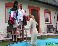 Aclassy Ladies In Mad Wetlook Fetish - scene 7