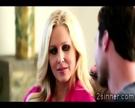 Seductive Blonde Milf Plays With Her Sons Best Friend - scene 2