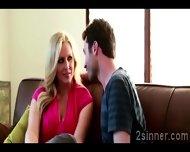 Seductive Blonde Milf Plays With Her Sons Best Friend - scene 3