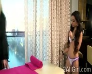 Lesbian Masseur Teases A Brunette Client With A Naughty Therapy - scene 1