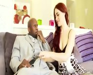Spoiled Redhead Hottie Is Happy With Her New Black Daddy - scene 8