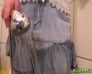 Sweer Girl In Jeans Miniskirt - scene 12