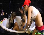 Kinky Fully Cothed Bath Orgy - scene 2