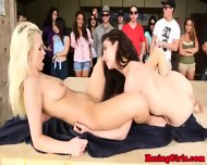 Pledged Lesbos Enjoying Dildo Fuck - scene 5