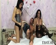 Young Tranny Serves 4 Cocks! - scene 4