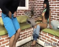Beautiful Tranny Enjoys Sex - scene 6