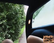 Jessie Sinclair S Nice Hand And Blowjob While Dude Was Driving - scene 7