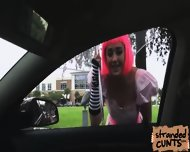 Natalie Monroe A Cosplayer Gat Fucked In The Car While Being Recorded By Dudes Cam - scene 1