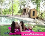 Teen Lesbians Lick Pussy In Sex Tape Outdoors - scene 3