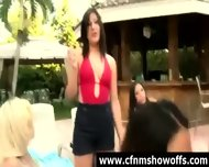 Naughty Cfnm Chicks Use Guys For Sex Outdoors - scene 12