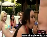 Naughty Cfnm Chicks Use Guys For Sex Outdoors - scene 6
