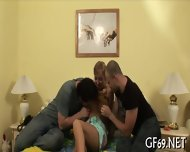 Raunchy Threesome Drilling - scene 6