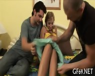Raunchy Threesome Drilling - scene 7