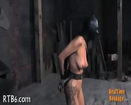 Stripping Inside A Small Iron Cage - scene 10