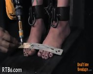 Stripping Inside A Small Iron Cage - scene 3