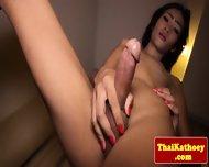 Skinny Thai Tgirl Ladyboy Tugs Her Dick - scene 8