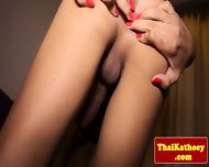 Skinny Thai Tgirl Ladyboy Tugs Her Dick - scene 9