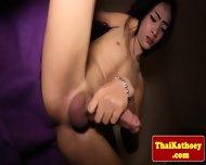 Skinny Thai Tgirl Ladyboy Tugs Her Dick - scene 10