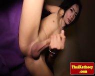 Skinny Thai Tgirl Ladyboy Tugs Her Dick - scene 11