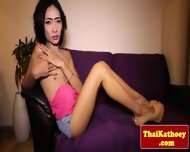 Skinny Thai Tgirl Ladyboy Tugs Her Dick - scene 3