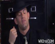 Two Men Cum On Nasty Slut - scene 3
