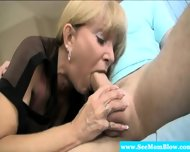 Gorgeous Milf Sensually Blows Dude