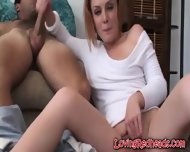 Redhead Rubs Snatch While Milking - scene 11