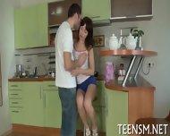Teen Cutie Gets Tough Experience - scene 3