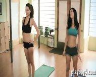 Cybergirls Yoga Class With Sexy Busty Trainer Chloe Terae - scene 6