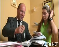 Threesome Lesson With Old Teacher - scene 1