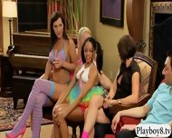 Group Of Swingers Enjoying Some Oral Sex Inside Playboy Room - scene 7