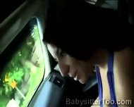 Couple Picked Up A Young Babysitter To Make Her A Naughty Proposition - scene 2
