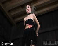 Painful Clamping For Beauty S Tits - scene 6