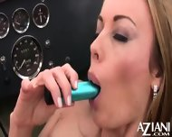 Anita Dark Strips Out Of Her Sexy Bikini Rubs Her Pussy Then Masturbates With Her Vibrator - scene 6