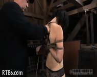 Slave Gets Ardous Caning - scene 2