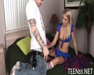 Chic Teen Swallows & Rides Cock - scene 11