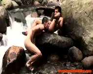 Anal Loving Latinos Sucking Cock Outside - scene 5