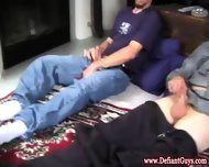 Amateur Twinks At Home Jerking Close Up - scene 1