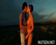 Stroking Babes Shaved Twat - scene 1