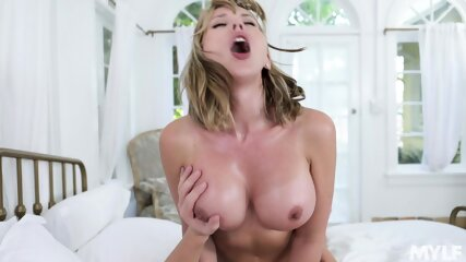 Busty Mom Takes Cock