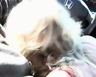 Hooker Gives Hot In Car Blowjob - scene 7