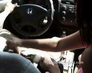 Big Tittied Prostitute Gives Road Head - scene 11