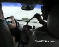 Teen Girls Suck Dick On Road Trip - scene 3