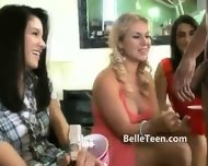 Eight Teen Girls Play With Men In Group - scene 6