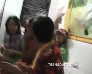 Teen Girls Get Naked For Hawaiian Party - scene 6