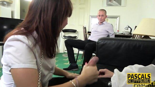Submissive slut gets dped in threeway