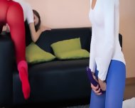 Amazing Lezzies In Pantyhose Enjoying Strap - scene 3