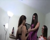 Hot Babes Banging In Their College Room - scene 3